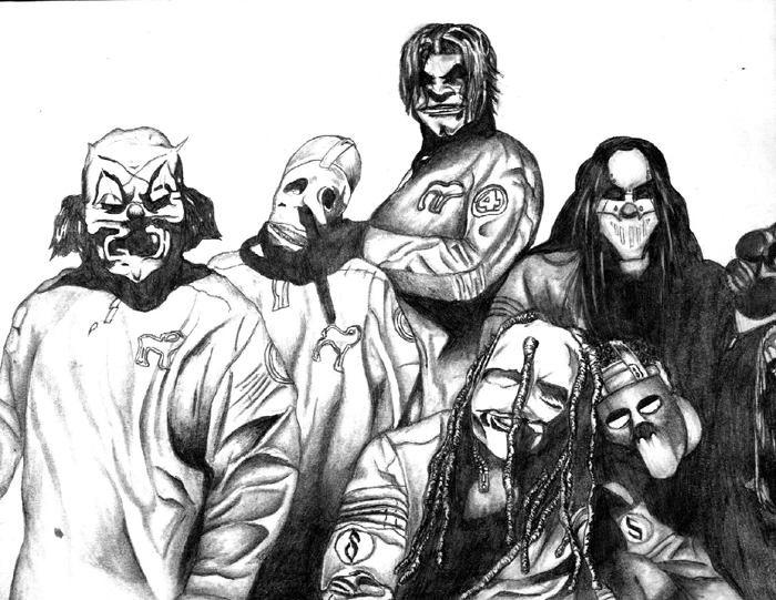 Slipknot Coloring Pages Clown