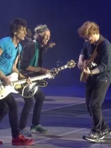 The Rolling Stones e Ed Sheeran tocam