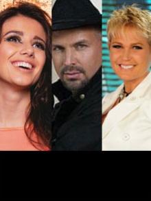 Xuxa e Paula Fernandes cantam com Garth Brooks, em Barretos