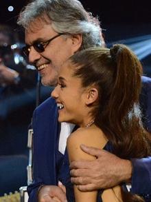 Dueto do tenor Andrea Bocelli com Ariana Grande ganha clipe