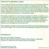 John Duncan - The Ruud E. Memorial Choir / Psychonaut