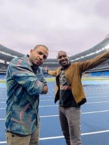 Thiaguinho e Projota cantam música oficial das Olimpíadas. Escute aqui