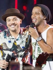Wesley Safadão divulga dueto com Ronaldinho Gaúcho