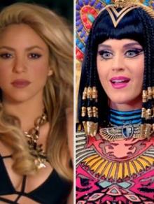 Musas pop Shakira e Katy Perry liberam prévias e novo álbum