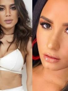 Cai na rede parceria de Anitta com J Balvin e Demi Lovato e Luis Fonsi
