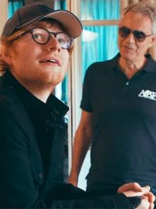 Música boa para curtir o domingão: Ed Sheeran grava com Andrea Bocelli