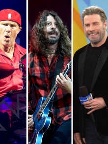 Foo Fighters faz show em NY e recebe John Travolta e Chad Smith, do RHCP