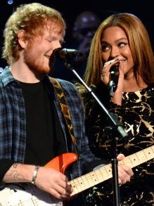 Pela primeira vez, Ed Sheeran e Beyoncé cantam