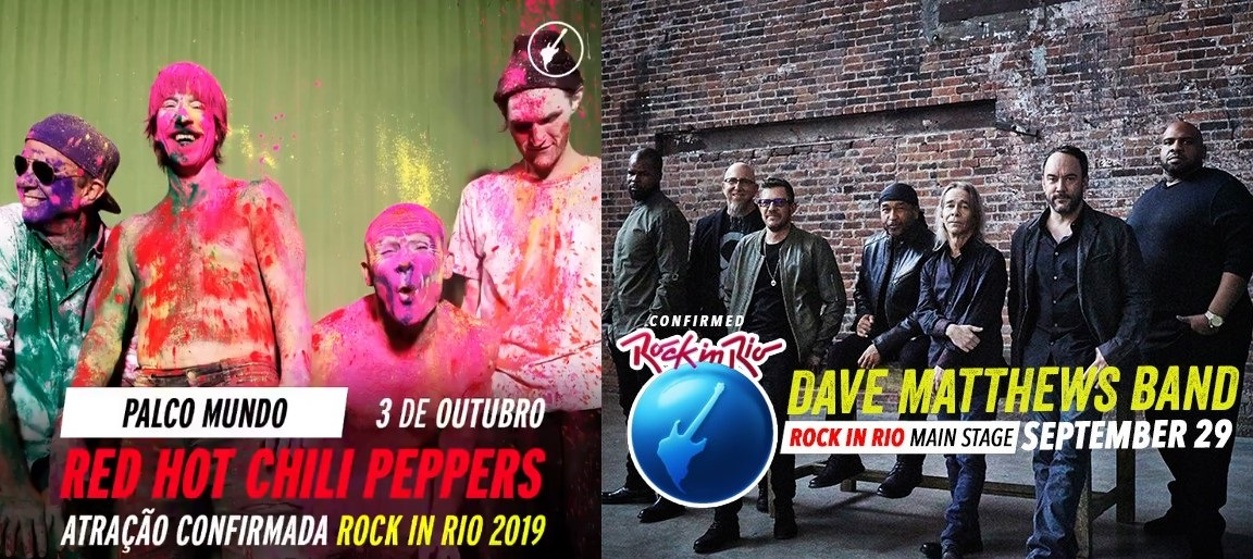 foto: 1 - Red Hot e Dave Mattheus Band confirmados no Rock in Rio