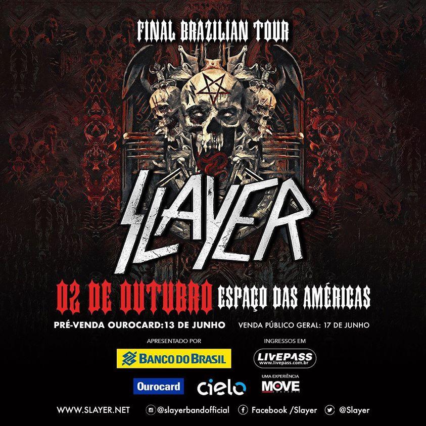 foto: 1 - Mais um: Slayer confirma show em São Paulo além do Rock in Rio