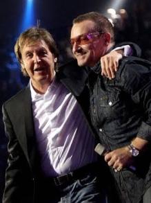U2 lança música com indicano e P McCartney libera dois singles