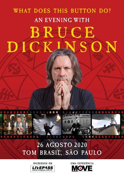 foto: 1 - Bruce Dickinson, do Iron Brasil, vem para o Brasil fazer palestra em 2020