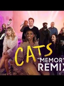 Elenco de 'Cats'com Taylor Swift canta com instrumentos reciclados