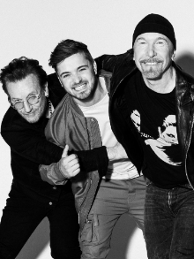 Bono e The Edge, do U2, se unem ao DJ Martin Garrix para hino