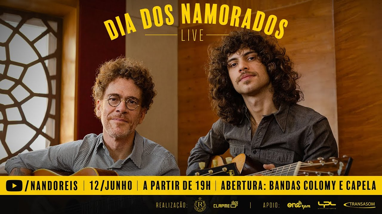 foto: 1 - Live Dia dos Namorados: Nando Reis, Fabio Jr, Roupa Nova e muito mais
